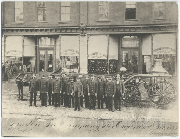 Winston Fire Company No.1. The company was organized in 1889.