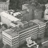 Aerial of Baptist Hospital and the Bowman Gray School of Medicine.