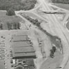 Aerial view of Thruway Shopping Center, 1957.