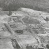 Aerial of Wake Forest College under construction.