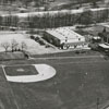 Aerial view of the Hanes Hosiery Mill park, 1947.