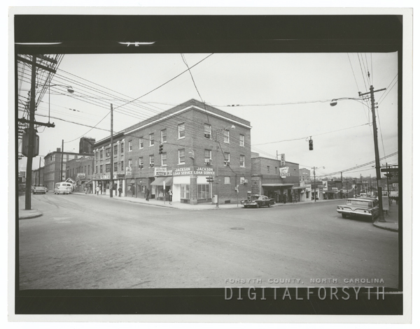 View of North Church Street and East Third Street, 1963.