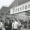 Grand opening of the Firestone Store at W. Fifth and North Spring Streets, 1960.