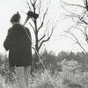 Dan and David Fuller, bringing home the yule log, 1969.