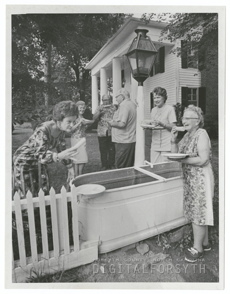 Moon family picnic in Pfafftown, 1971.