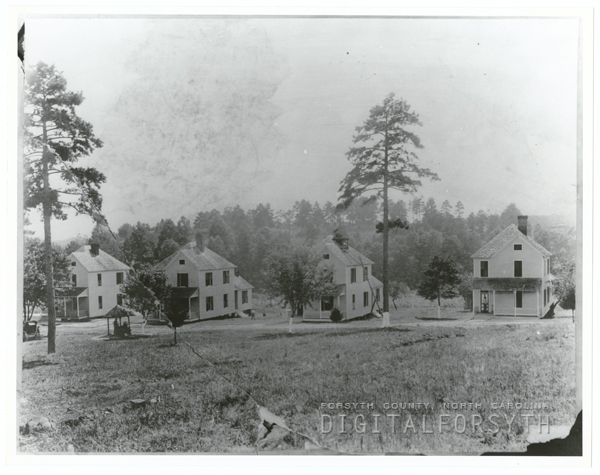 Early houses at the Methodist Children's Home.
