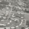 Aerial showing the housing development off Country Club Road, bordered by Interstate 40 on one side, 1960.