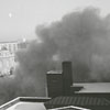 Wide-angle view of the dust from the implosion of Hotel Robert E. Lee, 1972.
