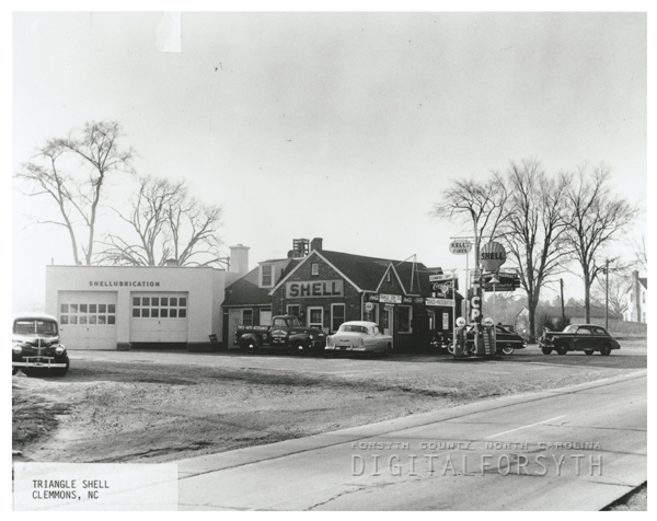 Quality Oil Company. Triangle Shell Station in Clemmons, N.C.