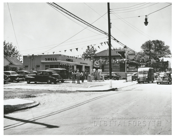 Quality Oil Company. Shell Service Station at 1012 E. 14th Street at Woodland Avenue.