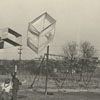 Children flying box kites in Central Park, 1939.
