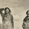 Annie Mae Gordon and Ruby Gordon harvesting wheat, 1939.