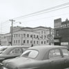 View of buildings on N. Main Street, near Third Street, 1960.