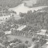 Aerial of Reynolda Road near the Reynolda Estate and Summit School.