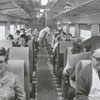 Train riders on an excursion to Raleigh, 1967.