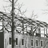 South Hall construction at Salem College, 1966.