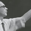 Charles Delaney, conductor of the Governor's School Symphony Orchestra, 1966.