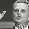 Reverend Billy Graham speaking in Winston-Salem, 1966.