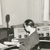 WSJS radio control room, 1941.