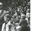 "Wake Forest Basketball Coach Horace ""Bones"" McKinney and son, Kenny, 1965."