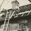 The Lick-Boner House in Old Salem after a fire damaged the house, 1965.