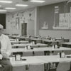 Robert B. Crawford Jr. at the Weeks Division cafeteria of Hanes Hosiery, 1965.