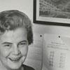 Mrs. Elleanore (Gustav) Carlberg, retiring fairgrounds assistant, 1965.