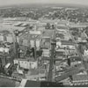 Aerial view of downtown looking east from the Wachovia Building, 1965.