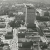 Aerial view of downtown looking west from the Wachovia Building, 1965.