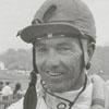 Jockey Robert McDonald at the Tanglewood Steeplechase, 1964.