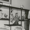 Mrs. Arthur (Daisy) Bedford and Connie Bedford with Mrs. Bedford's Japanese doll collection, 1964.