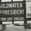 Barry Goldwater supporters gather as Goldwater makes a quick stop in Winston-Salem during his presidential campaign, 1964.