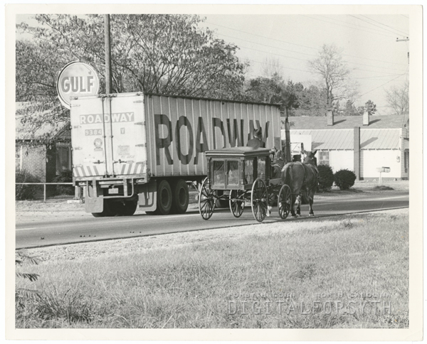Funeral procession for Garland E. Jones Sr. of Midway, 1964.