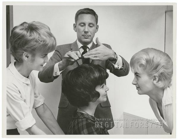 Hair stylist Franz Wulf , 1962.