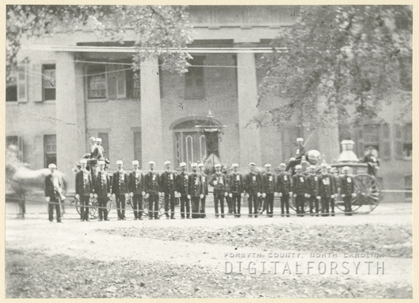 Salem Fire Department in front of Main Hall in Salem.