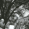 Forsyth County Centennial Celebration. Burying the time capsule on the lawn of the courthouse, 1949.