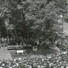 Forsyth County Centennial Celebration. Aerial view of burying the time capsule, 1949.