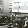 Parade near corner of North Liberty and West Fifth Street, 1940.
