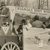 Triangle Body Works parade float, 1940.