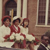 Miss Ram and Court in Homecoming Parade