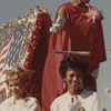 Homecoming Float with Three Women in White