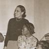 Dr. Kenneth R. Williams, Music Professor Martha Atkins, and Drama Students