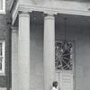 Students at Entrance to Blair Library - 1945