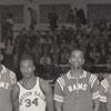 Men's Basketball Team with Mideast Regional Trophy
