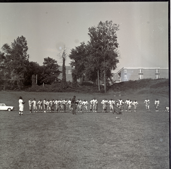 Football Players Practicing