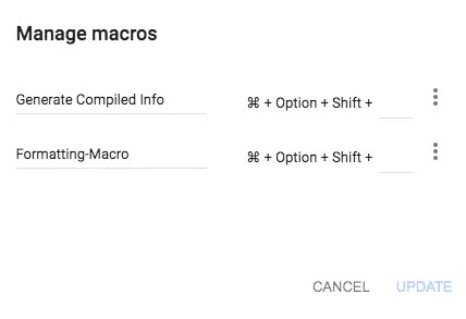 automate tasks in google sheets with macros