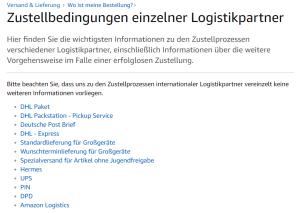Amazon Logistics Zustelldienst