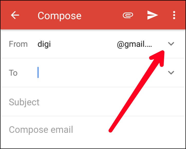 Select Gmail to Custom Email