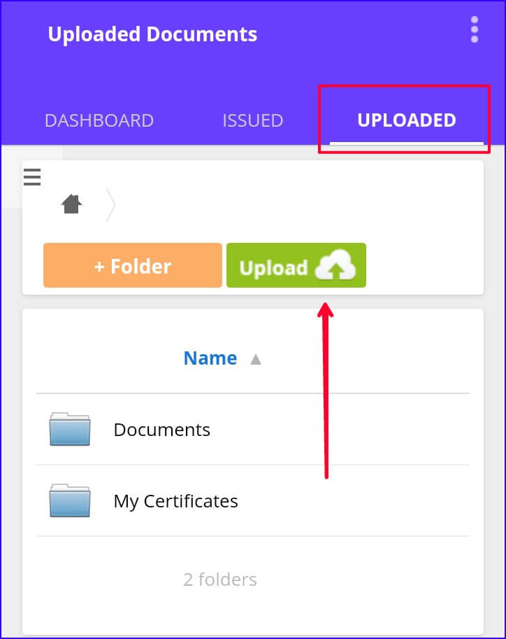 Digilocker me document upload kare