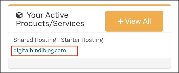 Click Your Domain Name